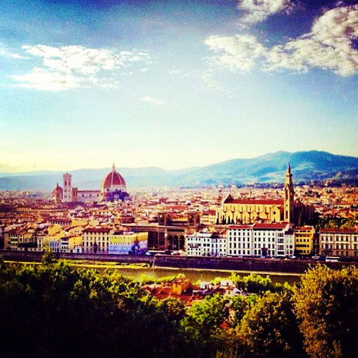 Falling in love with Florence. Photo via @_wendy_tsang_.